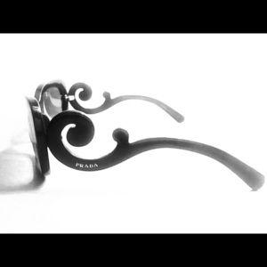 Prada Floral Sunglasses - Black